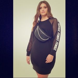 Forever 21 Plus Size Mesh Sweater Dress